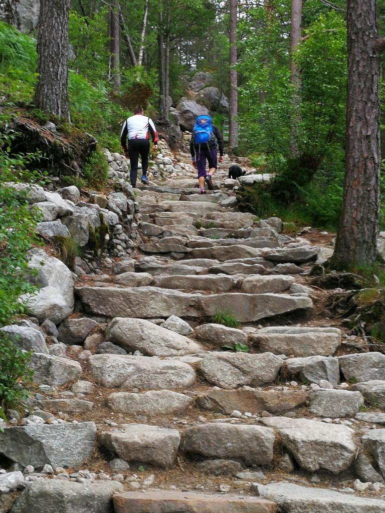 Wanderung zum Preikestolen - Aufstieg