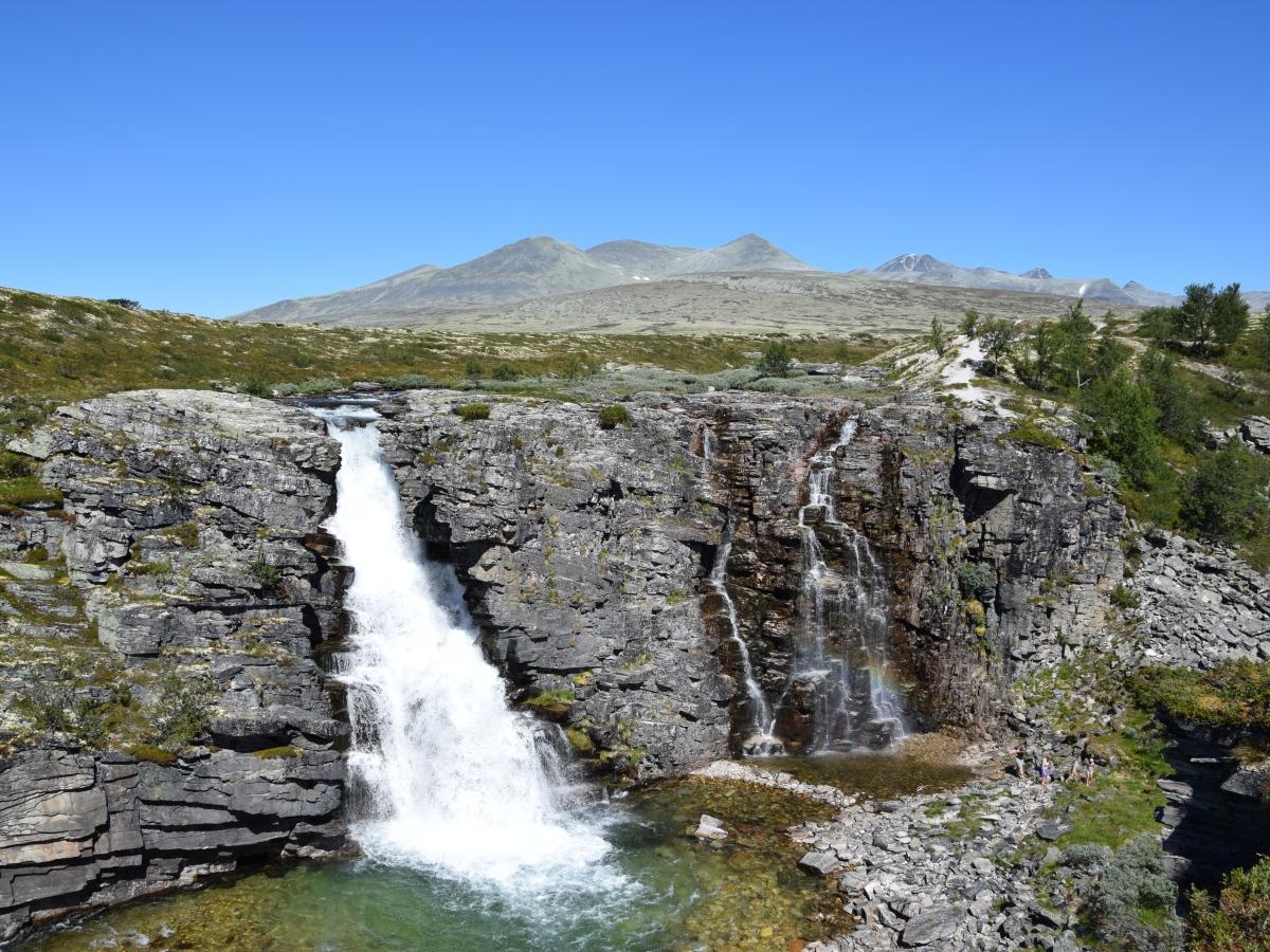 Storulfossen (Wasserfall) im Rondane Nationalpark