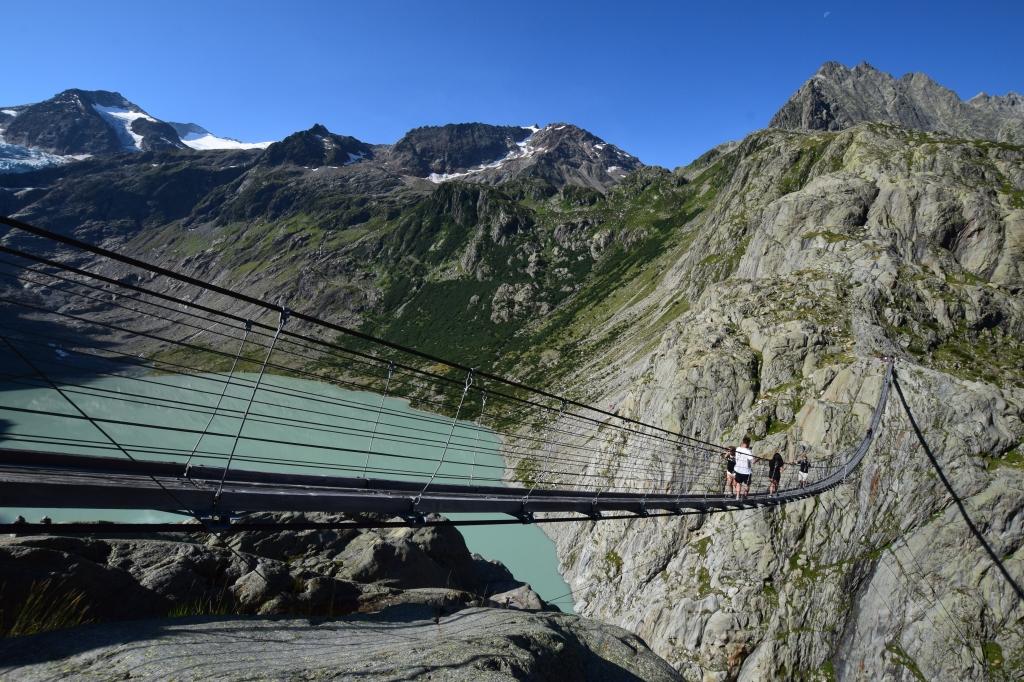 Überquerung der Triftbrücke