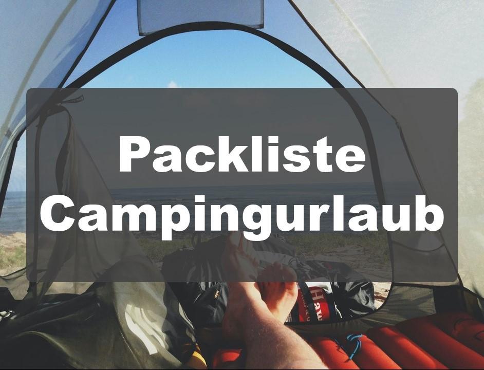 Packliste Campingurlaub