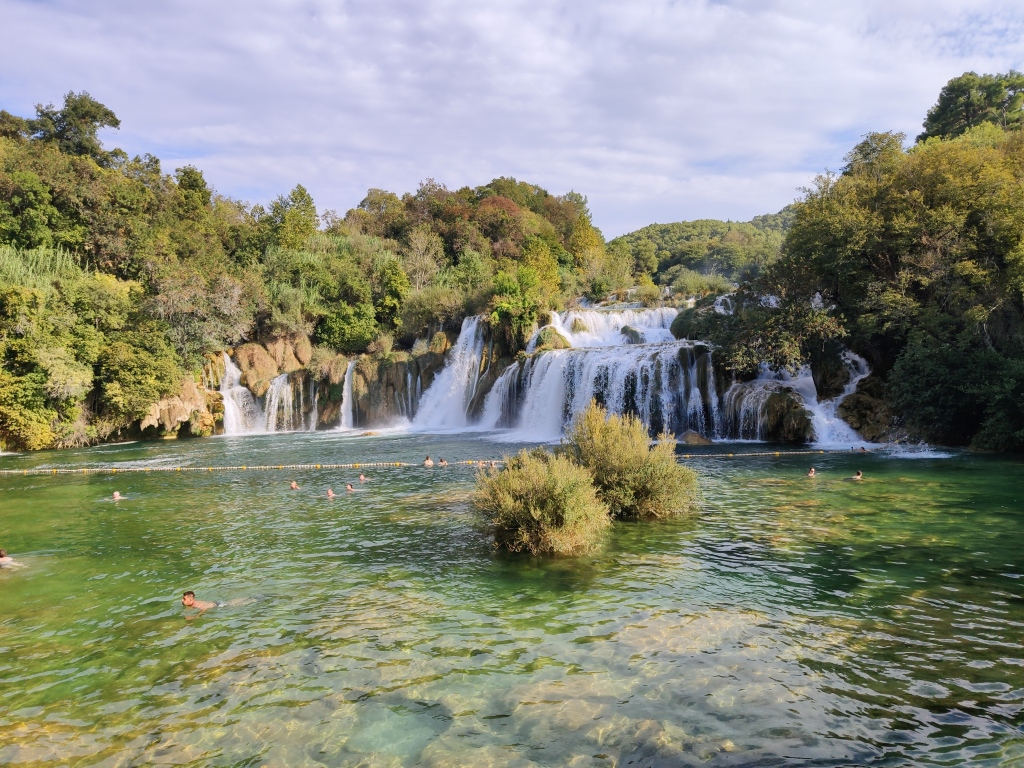 Baden am Roški Slap im Krka Nationalpark