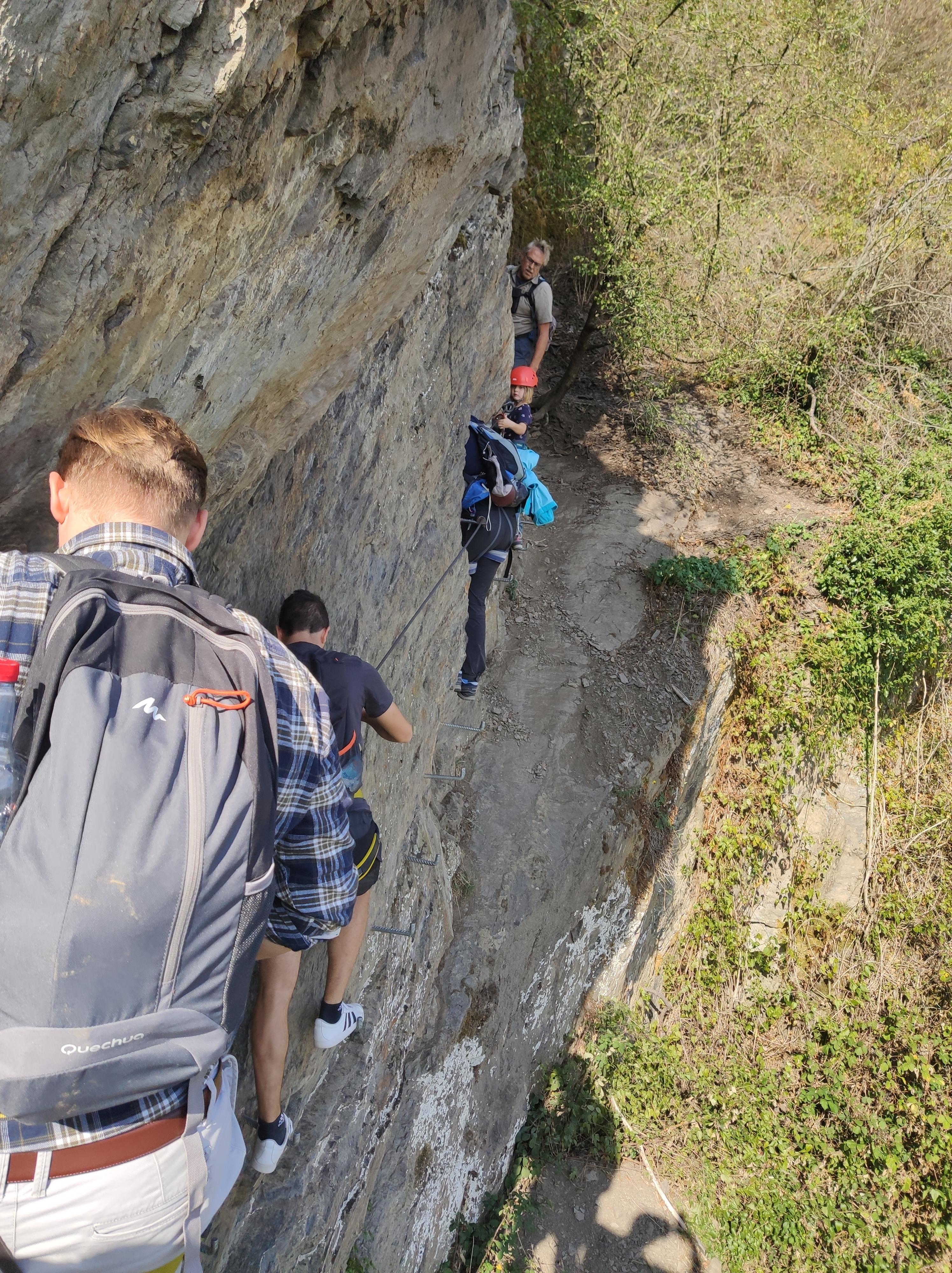 Klettern am Mittelrhein-Klettersteig