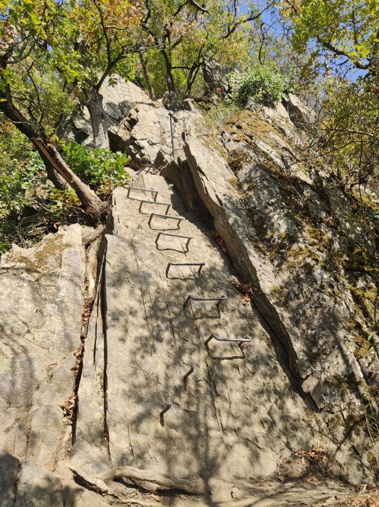 Trittstufen am Klettersteig Boppard