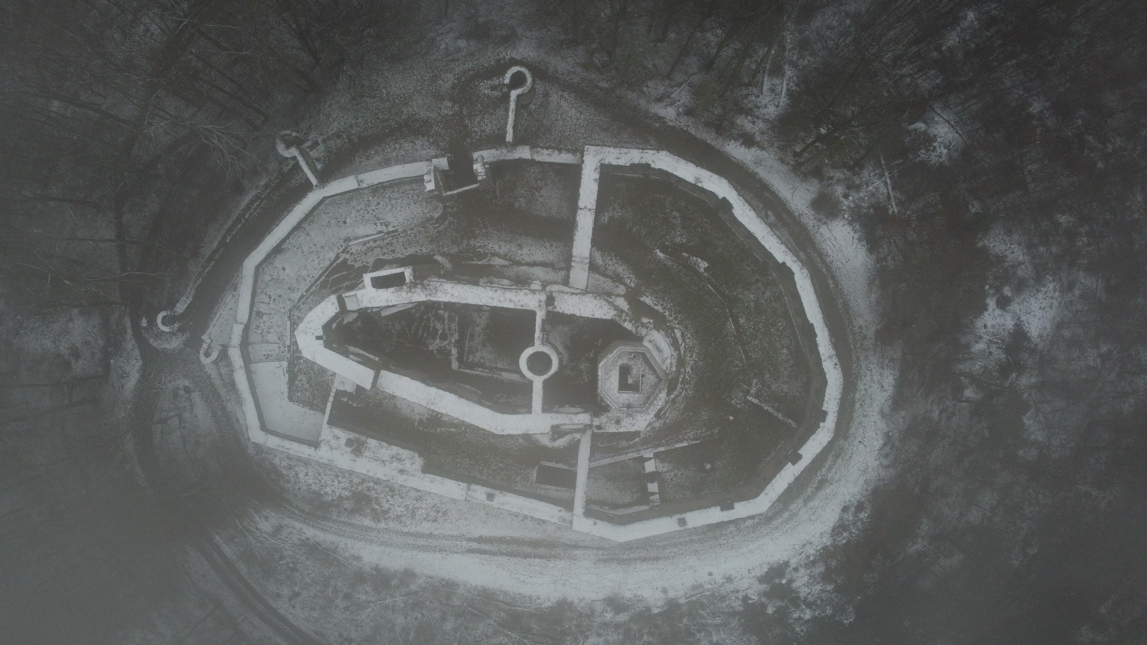 Top-Down-View Burg Gräfenstein