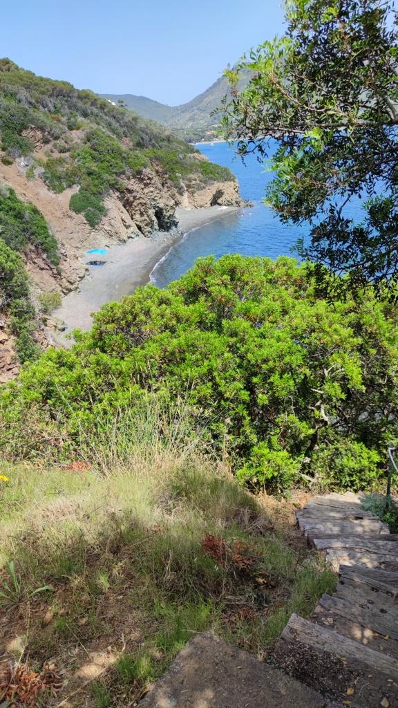 Elba, Badebucht bei Lacona