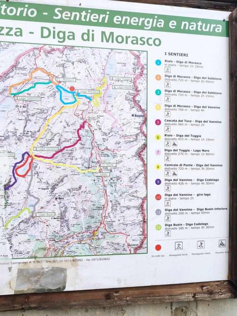 Wanderungen am Lago di Morasco